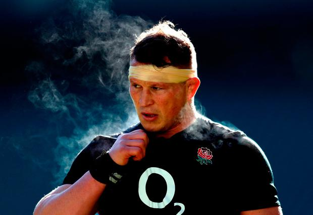 England's Dylan Hartley