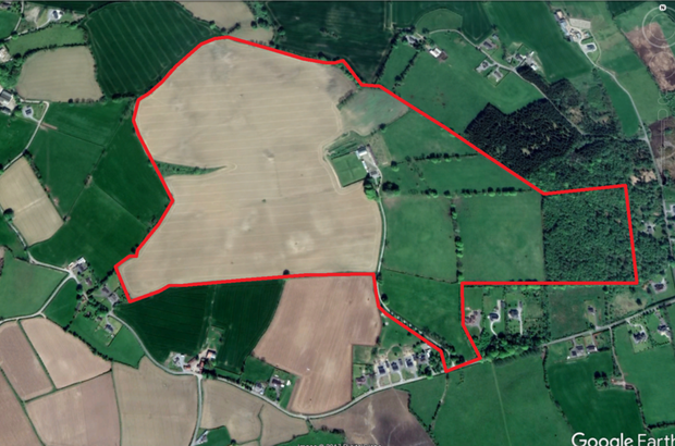 Residential Farm of 61.5 Hectares (152 Acres) at Ballynamona, Durrow, Tullamore, Co. Offaly. Image: Lisney