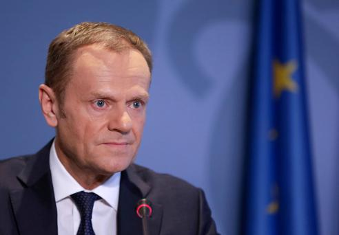 European Council President Donald Tusk. REUTERS/Stringer