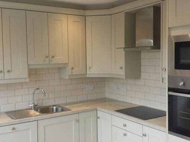The kitchen of the property in Ballsbridge (Image via Daft.ie)