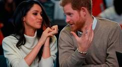 Prince Harry and Meghan Markle visit Millennium Point to celebrate International Women's Day on March 8, 2018 in Birmingham, England. (Photo by Ian Vogler - WPA Pool/Getty Images)