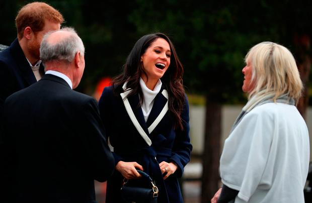 Prince Harry and Meghan Markle on a walkabout during a visit to Millennium Point in Birmingham, as part of the latest leg in the regional tours the couple are undertaking in the run-up to their May wedding