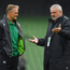 Joe Schmidt, left, with Wales head coach Warren Gatland