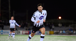 27 February 2018; Michael Duffy of Dundalk during the SSE Airtricity League Premier Division match between Dundalk and Limerick at Oriel Park in Dundalk, Co Louth. Photo by Stephen McCarthy/Sportsfile