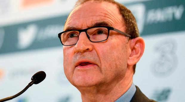 Manager Martin O'Neill. Photo: Stephen McCarthy/Sportsfile