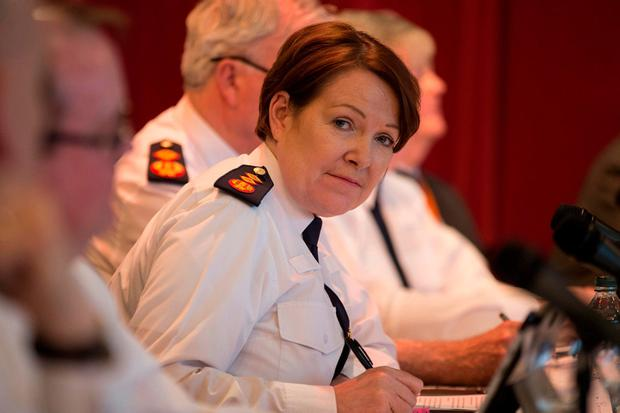 Former Garda Commissioner Nóirín O'Sullivan pictured at a meeting of the Policing Authority. Photo: Mark Condren
