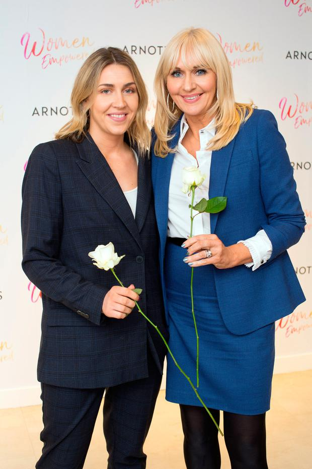 Georgia McGurk & Miriam O'Callaghan at the Arnotts Women Empowered Event. Photo: Anthony Woods