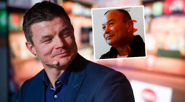 Brian O'Driscoll and (inset) Eddie Jones