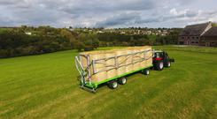 These hydraulic ladders are specially designed for use with bales