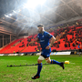 Leinster captain Sean O'Brien at Parc Y Scarlets in Llanelli, Wales