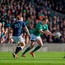 Johnny Sexton in action against Finn Russell during the 2015 clash in Murrayfield. Photo: Sportsfile