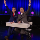 Host Ryan Tubridy and antiques expert Niall Mullen on last night's Late Late Show. Photo: RTE