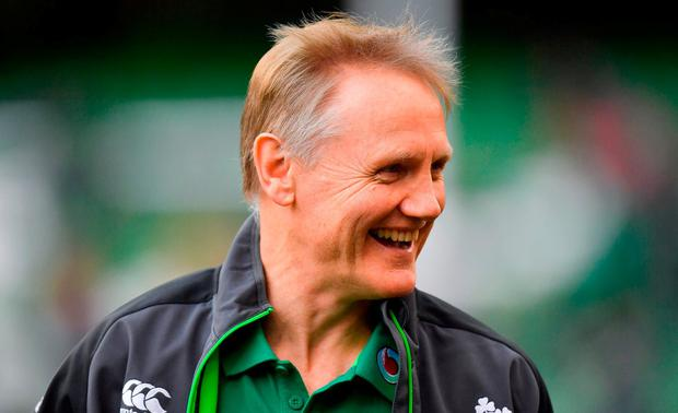 Ireland head coach Joe Schmidt prior to the NatWest Six Nations Rugby Championship match between Ireland and Scotland at the Aviva Stadium in Dublin. Photo by Brendan Moran/Sportsfile