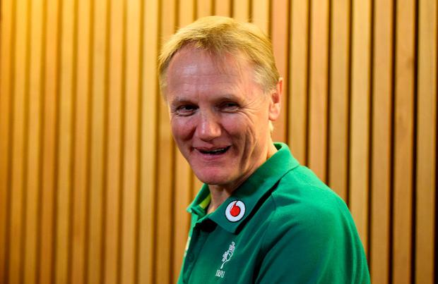Ireland head coach Joe Schmidt during the press conference after the match. REUTERS/Clodagh Kilcoyne