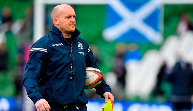 Scotland head coach Gregor Townsend prior to the NatWest Six Nations Rugby Championship match between Ireland and Scotland at the Aviva Stadium in Dublin. Photo by Brendan Moran/Sportsfile