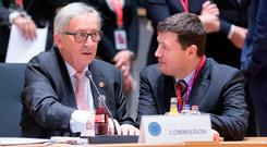 Puppet and Master: Jean-Claude Juncker, left, with Martin Selmayr. Photo: Getty