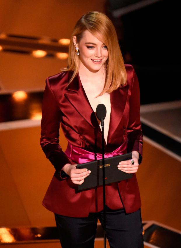 Emma Stone's jibe while presenting the award for best director at the Oscars last week did little for feminism. Photo: AP