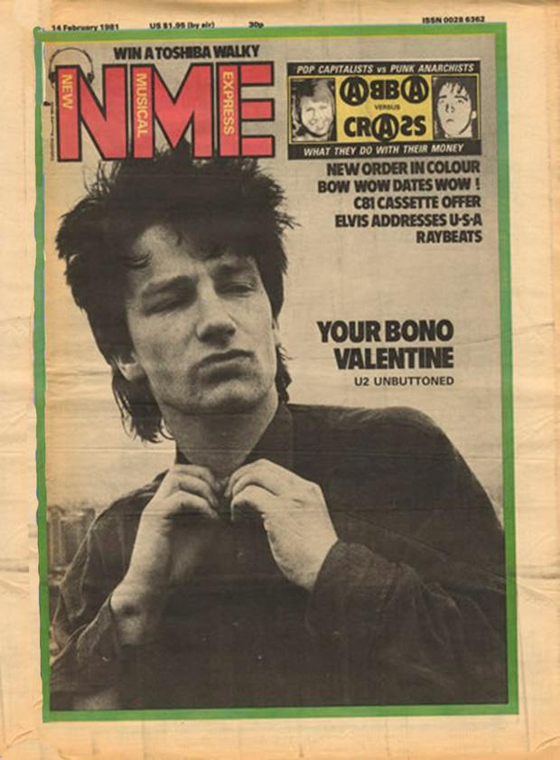 U2's first NME cover in February 1981