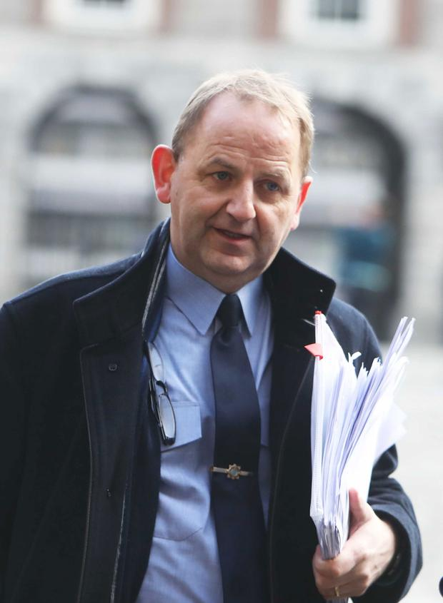 Garda Sergeant Maurice McCabe arriving at the Disclosures Tribunal in Dublin Castle. Photo: Rollingnews.ie