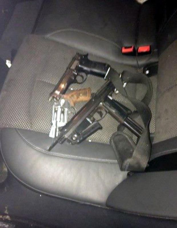 Three firearms recovered by gardai