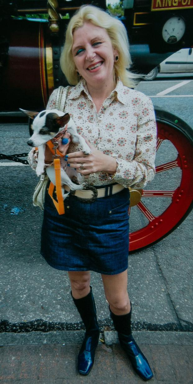 Tina Satchwell pictured with one of her beloved pet dogs
