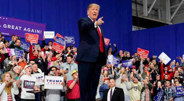 Trump unleashed at raucous rally