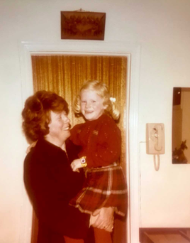 Nuala Carey, aged five, and her mother Ann in the kitchen of their family home in Monkstown, Co Dublin.