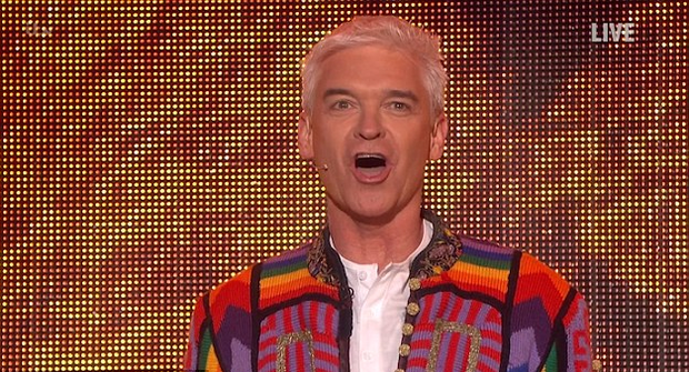 Philip Schofield on last night's Saturday Night Takeaway. Photo: ITV