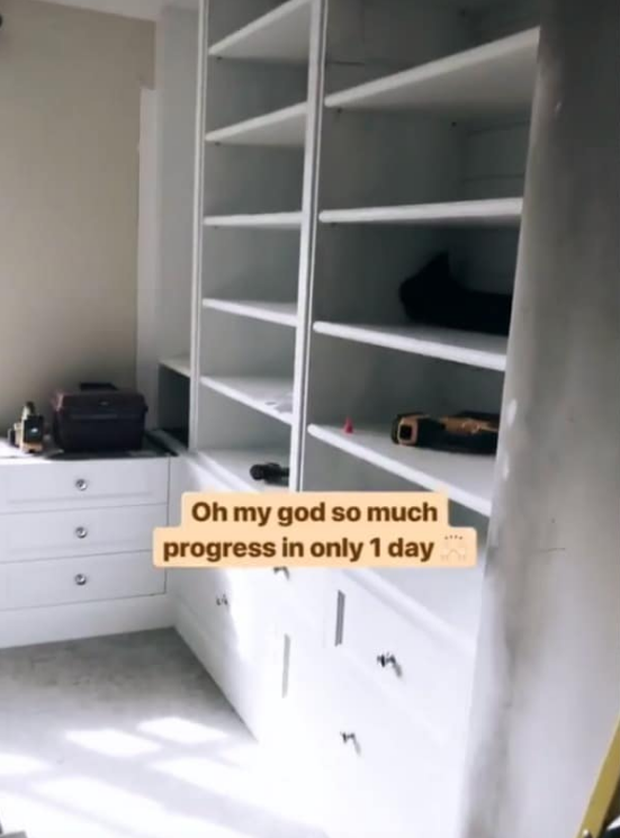Pippa posted a photo of her new bespoke shelving at her K Club home on Insta stories. Photo: @pipsy_pie