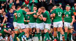 Ireland players celebrate