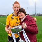 Aishling Moloney of DCU with her mother Gertie after the Gourmet Food Parlour HEC O'Connor Cup Final. Photo: Sportsfile