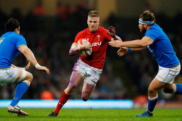 Wales' Gareth Anscombe in action. Photo: Reuters/Paul Childs