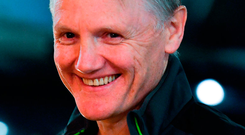 Ireland head coach Joe Schmidt arrives prior to the NatWest Six Nations Rugby Championship match between Ireland and Scotland at the Aviva Stadium in Dublin. Photo: Sportsfile