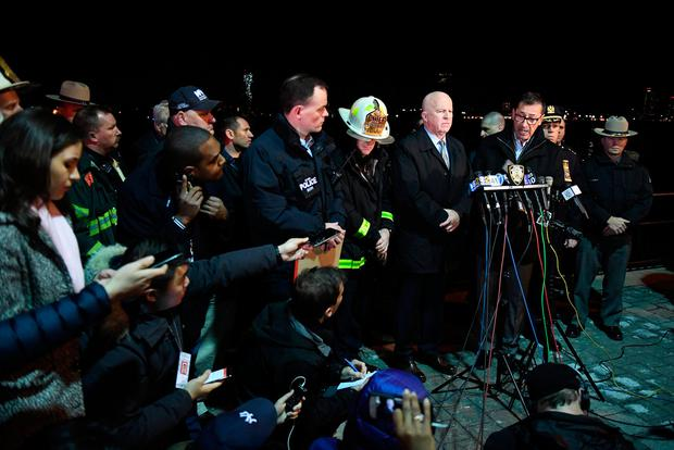 FDNY Commissioner Daniel Nigro speaks during a press conference alongside NYPD Commissioner James O'Neill after a chartered Liberty Helicopters helicopter crashed into the East River in New York, U.S., March 11, 2018. REUTERS/Darren Ornitz