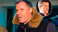 Jamie Carragher and (inset) Joey Barton