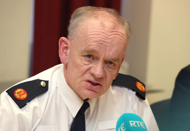 Assistant Commissioner, John O'Driscoll speaking at a Garda briefing at Harcourt Terrace, Dublin. Picture credit; Damien Eagers 12/3/2018
