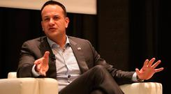 Taoiseach Leo Varadkar is interviewed by Evan Smith, CEO of Texas Tribune at the SXSW festival in Austin Texas at the beginning of his week long visit to the United States of America. Niall Carson/PA Wire