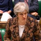 Prime Minister Theresa May speaking in the House of Commons in London about the Salisbury attack, saying the Government has concluded it is 'highly likely' that Russia is responsible for the attack on Sergei Skripal and his daughter in Salisbury. PA Wire