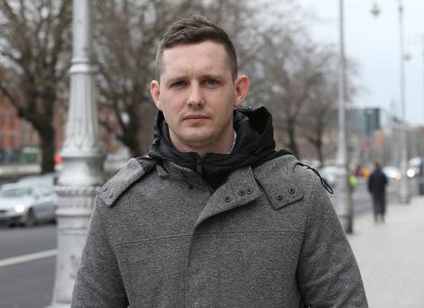 Lorcan Bourke from Limerick City, pictured leaving the Four Courts Pic: Collins Court