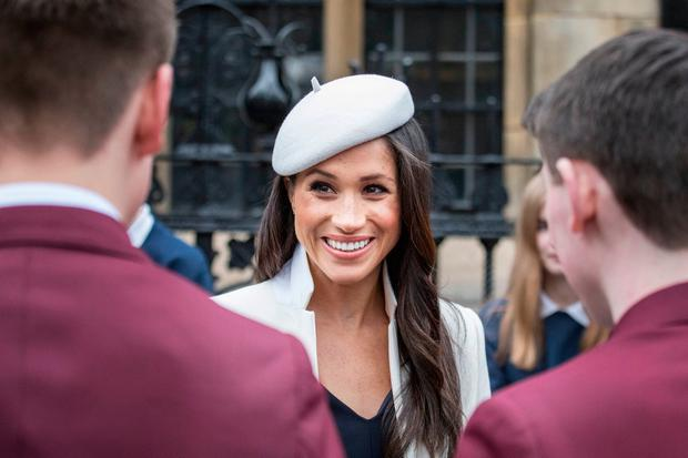 Meghan Markle meets school children in Dean's Yard after attending the Commonwealth Service at Westminster Abbey, London Jack Hill/The Times/PA Wire