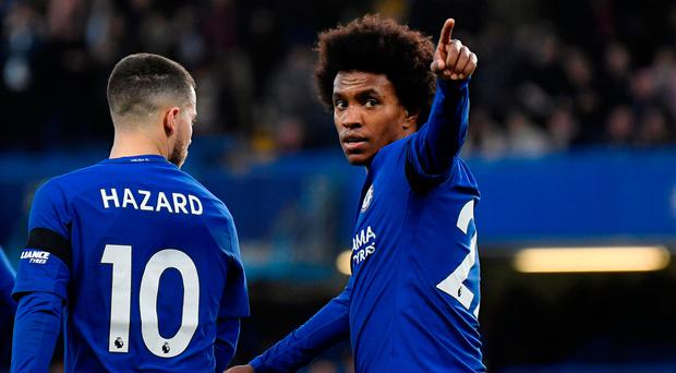 Conte could go with the front three of Hazard, Willian and Pedro that worked well in the first leg. Photo: REUTERS