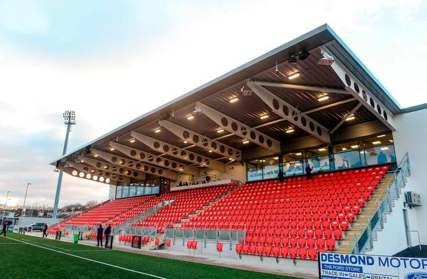 A general view of the newly refurbished Brandywell Stadium prior to the SSE Airtricity League Premier Division match between Derry City and Limerick at the Brandywell Stadium in Derry. Photo: Oliver McVeigh/Sportsfile