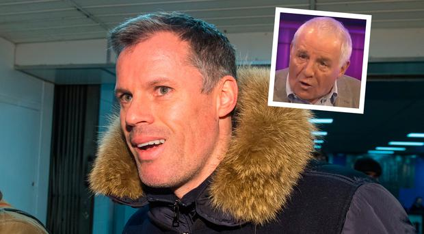 Jamie Carragher and (inset) Eamon Dunphy