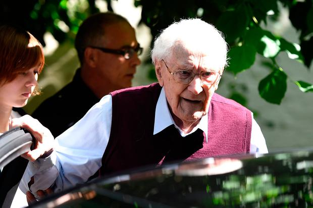 Oskar Groening admitted he was 'morally guilty for the murders' of Jews at Auschwitz, where he collected money from victims. Photo: AFP/Getty Images