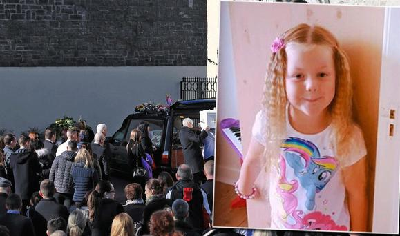 Kayla Casey (inset) was laid to rest today