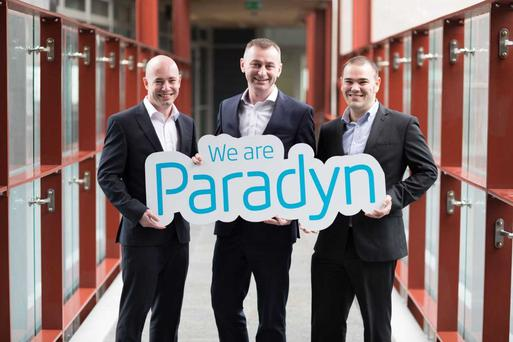 Pictured announcing the rebrand are (L-R) Paul Casey, Director, Paradyn; Cillian McCarthy, CEO, Paradyn; and Rob Norton Director, Paradyn.