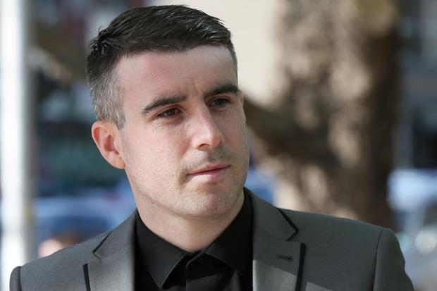 Former Leeds United and Republic of Ireland youth team football player RobertBayly (30) arrives at the Dublin Circuit Criminal Court today where he was jailed for two and a half years. He previously pleaded guilty to possessing cannabis with intent to sell or supply. Pic Collins Courts.