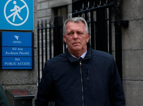 Declan Homan, (54), from Island Lodge, Walsh Island, Co. Offaly pictured leaving the Four Courts after the opening day of a High Court action for damages. Picture: Collins Courts