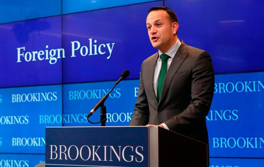Irish PM Varadkar presents Trump with Shamrock Bowl