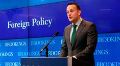 Taoiseach Leo Varadkar gives a Foreign Policy speech at the Brookings Institute in Washington DC on day three of his week long visit to the United States of America Niall Carson/PA Wire